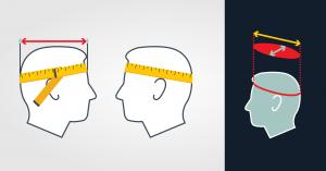 جدول اندازه های کلاه کاسکت